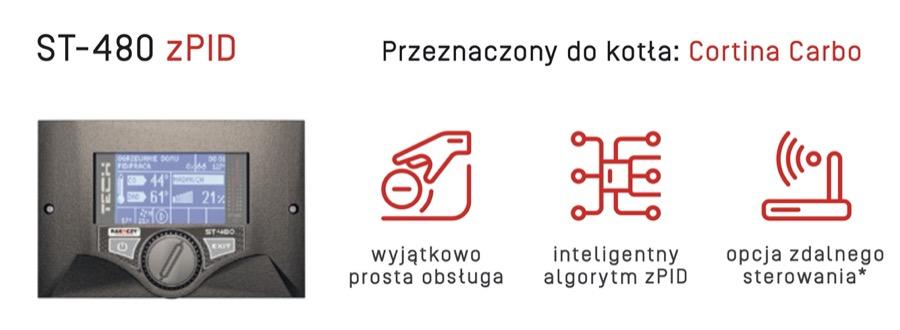 Rakoczy Cortina Carbo Sterownik Tech ST 480 w AleKotły.pl